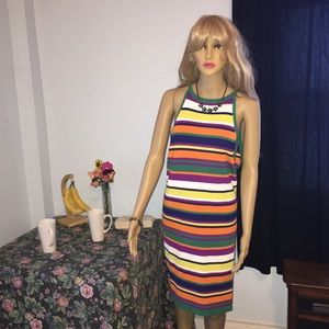 Forever 21 Plus Multi Colored Dress 3X Knit